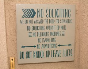 No Soliciting - Our Kind of Wonderful