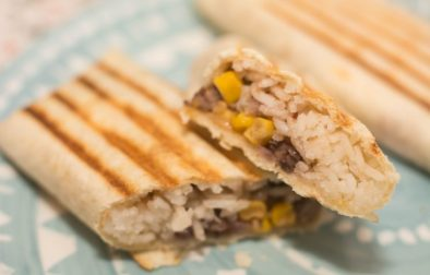 Black Bean and Rice Burritos - Our Kind of Wonderful