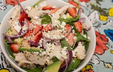 Strawberry Avocado Spinach Salad - Our Kind of Wonderful