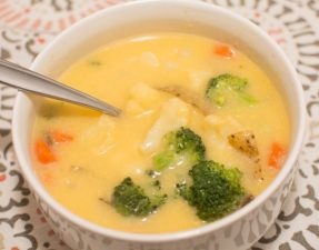 Veggie Cheese Soup - Our Kind of Wonderful