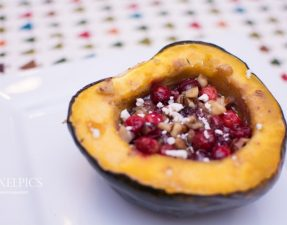 Acorn Squash with Walnuts, Cranberries, and Feta - Our Kind of Wonderful