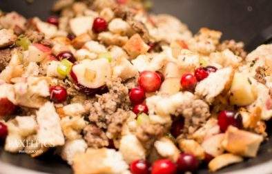 Apple and Cranberry Stuffing - Our Kind of Wonderful