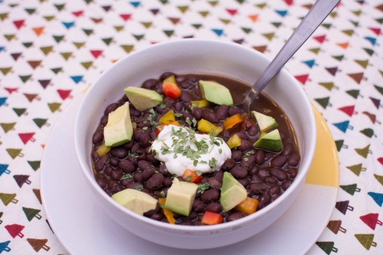 Black Bean Soup - Our Kind of Wonderful