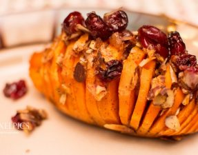 Cranberry and Apple Stuffed Sweet Potatoes - Our Kind of Wonderful