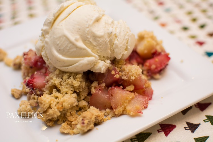 Cranberry and Pear Crumble - Our Kind of Wonderful