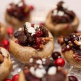 Cranberry and Sausage Stuffed Mushrooms - Our Kind of Wonderful