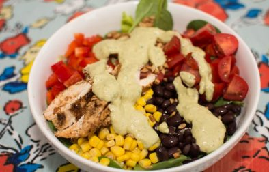 Southwest Salad with Avocado Dressing and Chili Lime Chicken - Our Kind of Wonderful