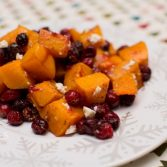 Honey Roasted Butternut Squash with Cranberries - Our Kind of Wonderful