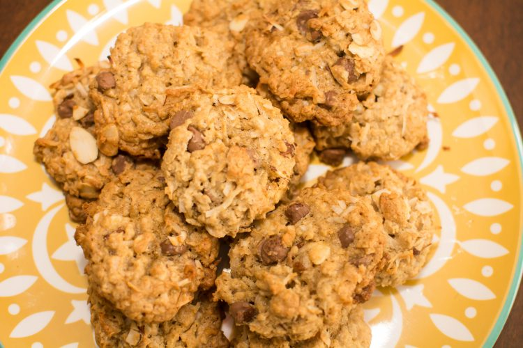 Oatmeal Coconut Chocolate Chip Cookies - Our Kind of Wonderful