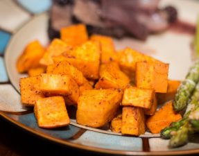 Spicy Roasted Sweet Potatoes - Our Kind of Wonderful