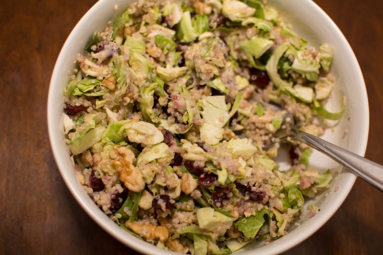 Brussels Sprouts, Cranberries, and Quinoa Salad - Our Kind of Wonderful