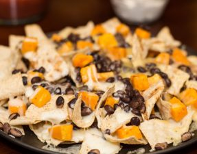 Black Bean Butternut Squash Nachos - Our Kind of Wonderful