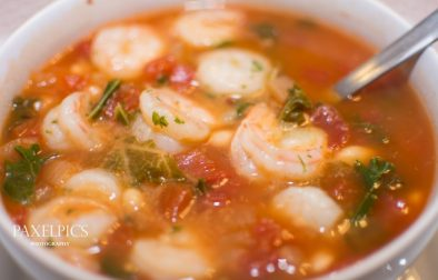 Tuscan Bean Soup with Shrimp - Our Kind of Wonderful