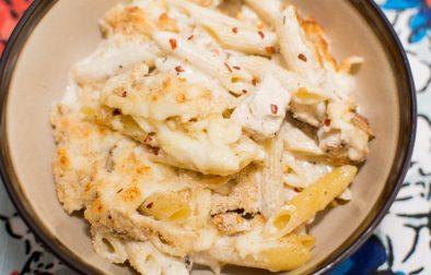 Creamy Chicken Alfredo Pasta Bake - Our Kind of Wonderful