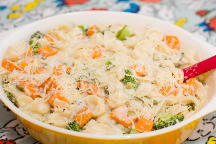 Creamy Parmesan Orecchiette with Butternut Squash and Broccoli - Or Kind of Wonderful
