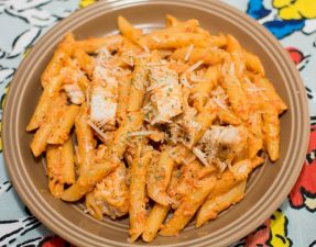 Roasted Red Pepper and Basil Pesto Penne - Our Kind of Wonderful