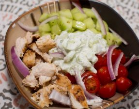 Greek Chicken Bowls - Our Kind of Wonderful