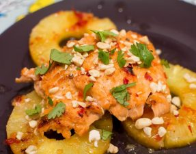 Baked Thai Pineapple Salmon - Our Kind of Wonderful