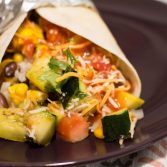 Grilled Veggie Burritos with Corn Salsa - Our Kind of Wonderful