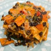 Sweet Potato and Black Bean Enchiladas - Our Kind of Wonderful