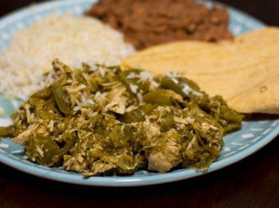 Crockpot Chicken Chile Verde - Our Kind of Wonderful