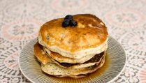 Sour Cream Blueberry, Lemon, Poppyseed Pancakes - Our Kind of Wonderful