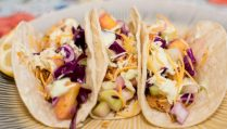 Blackened Fish Tacos with Pineapple Cucumber Coleslaw - Our Kind of Wonderful