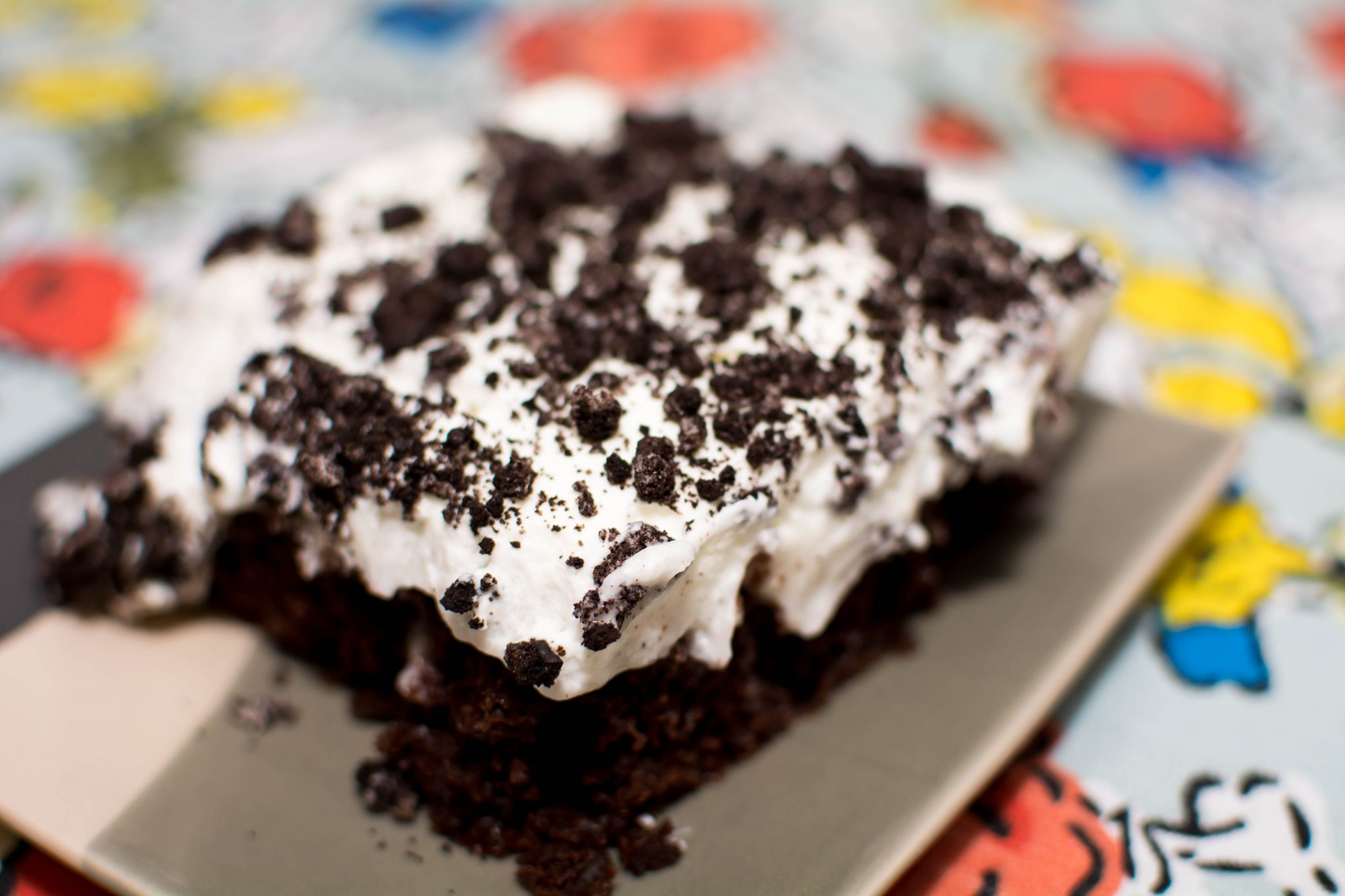 Oreo Poke Cake - Our Kind of Wonderful