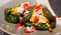 Poblano Stuffed Peppers - Our Kind of Wonderful