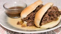 Slow Cooker French Dip Sandwiches - Our Kind of Wonderful