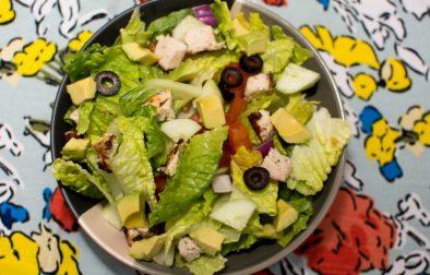 Grilled Lemon Herb Mediterranean Chicken Salad - Our Kind of Wonderful