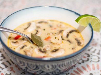 Chicken & Mushroom Coconut Soup - Our Kind of Wonderful