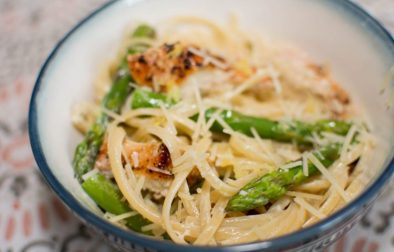 Lemon Asparagus Pasta - Our Kind of Wonderful