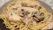 Creamy Parmesan Garlic Mushroom Chicken - Our Kind of Wonderful