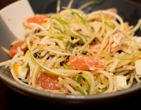 Spiralized Apple Salad - Our Kind of Wonderful