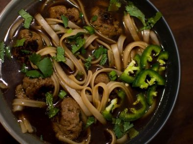 Vietnamese Meatball Pho Noodle Soup - Our Kind of Wonderful