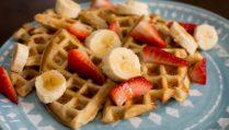 Banana Cinnamon Waffles - Our Kind of Wonderful