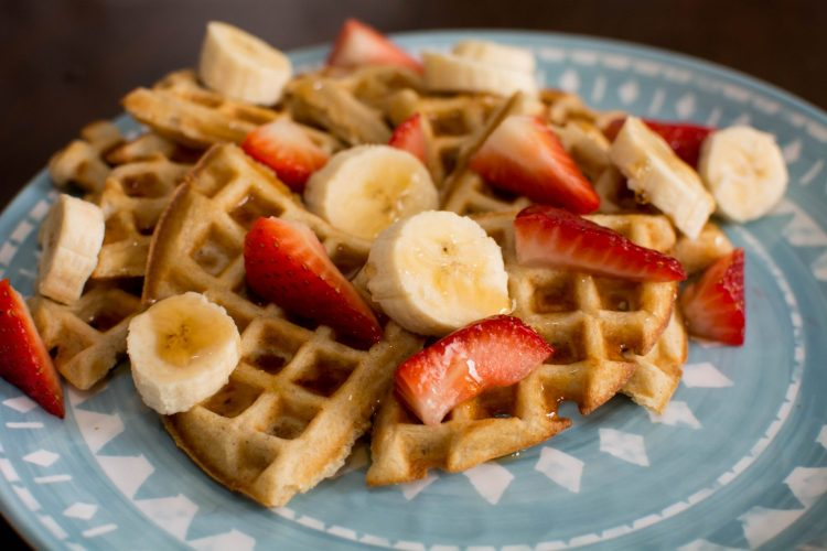 Banana Cinnamon Waffles - Our Kind of Wonderful