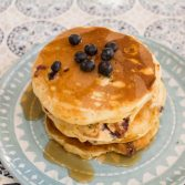 Lemon Blueberry Ricotta Pancakes - Our Kind of Wonderful