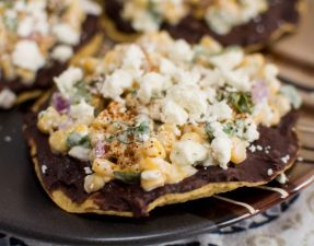 Street Corn Tostadas - Our Kind of Wonderful