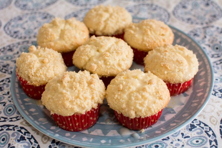 Lemon Crumb Muffins with a Lemon Crumb Topping