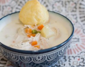 Crock Pot Chicken Pot Pie Soup - Our Kind of Wonderful