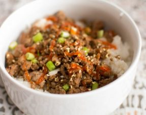 Korean Turkey Burger and Rice Bowls - Our Kind of Wonderful