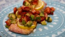 Strawberry Lemon Salmon with Strawberry Avocado Salsa - Our Kind of Wonderful
