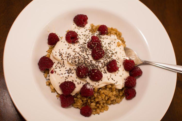 Wheat Berry Breakfast Bowl
