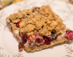 Cranberry Sour Cream Bars - Our Kind of Wonderful