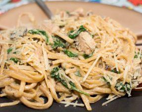 Creamy Chicken Mushroom Florentine - Our Kind of Wonderful