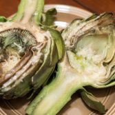 Grilled Artichokes with Cheese - Our Kind of Wonderful