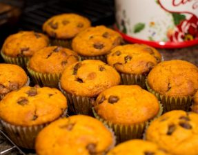 Pumpkin Chocolate Chip Muffins - Our Kind of Wonderful
