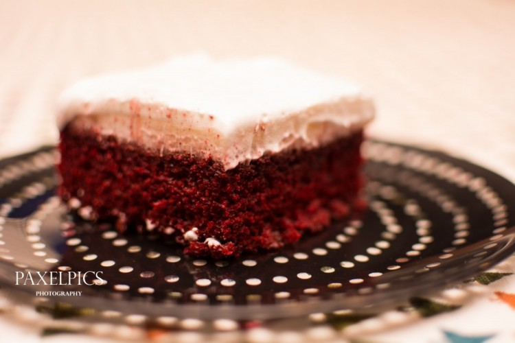 Red Velvet Poke Cake - Our Kind of Wonderful